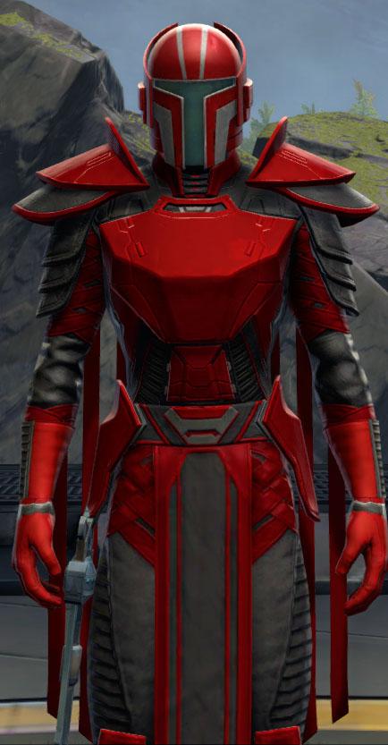 SWTOR Medium Red and Dark Gray Dye Module
