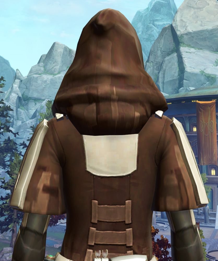 Ablative Lacqerous Armor Set detailed back view from Star Wars: The Old Republic.