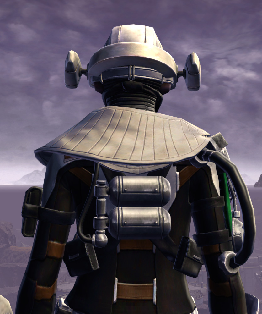 Advanced Slicer Armor Set detailed back view from Star Wars: The Old Republic.