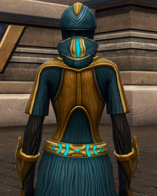 Aggressive Treatment Armor Set Back from Star Wars: The Old Republic.