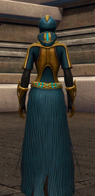 Aggressive Treatment Armor Set player-view from Star Wars: The Old Republic.