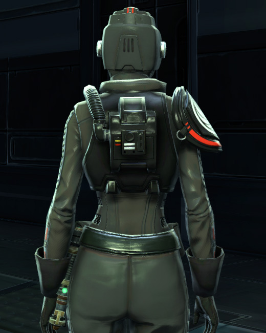 Alliance Reconnaissance Armor Set Back from Star Wars: The Old Republic.