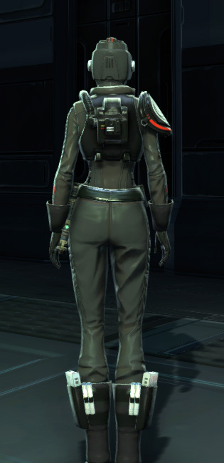 Alliance Reconnaissance Armor Set player-view from Star Wars: The Old Republic.