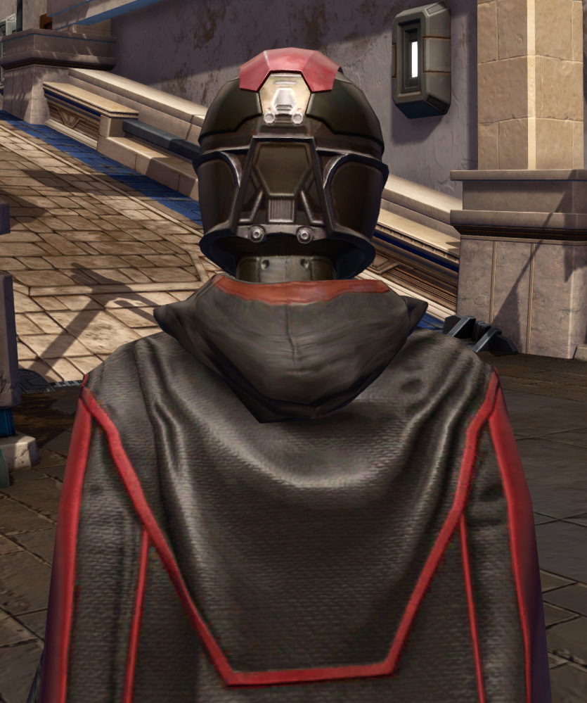 Masterwork Ancient Force-Master Armor Set detailed back view from Star Wars: The Old Republic.