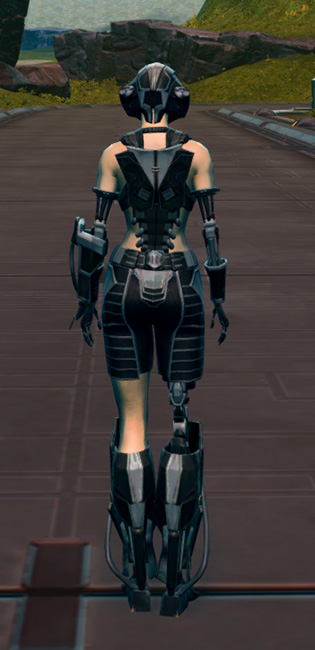 B-100 Cybernetic Armor Set player-view from Star Wars: The Old Republic.