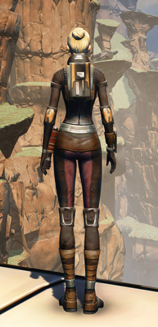 Balmorran Resistance Armor Set player-view from Star Wars: The Old Republic.
