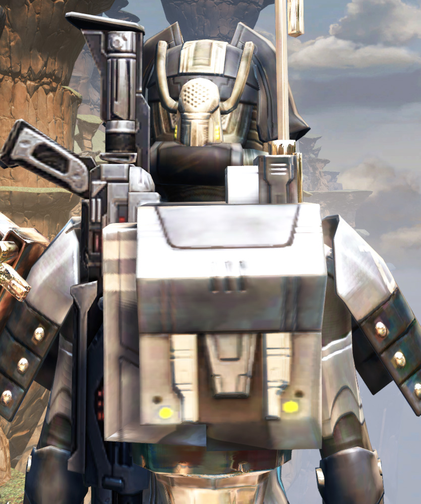Battlemaster Eliminator Armor Set detailed back view from Star Wars: The Old Republic.
