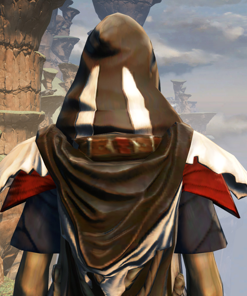 Battlemaster Force-Mystic Armor Set detailed back view from Star Wars: The Old Republic.