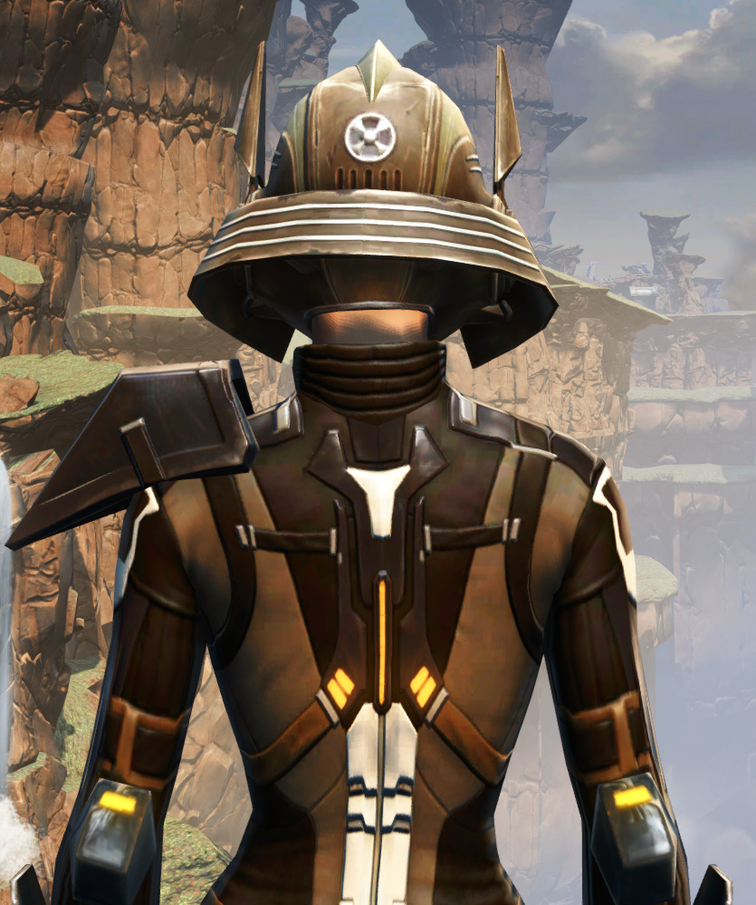 Battlemaster War Leader Armor Set detailed back view from Star Wars: The Old Republic.