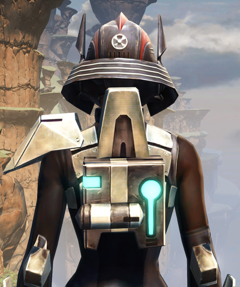 Battlemaster Weaponmaster Armor Set detailed back view from Star Wars: The Old Republic.