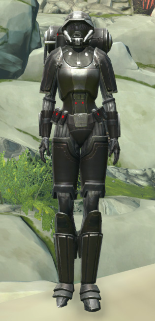 BK-0 Combustion Armor Armor Set Outfit from Star Wars: The Old Republic.
