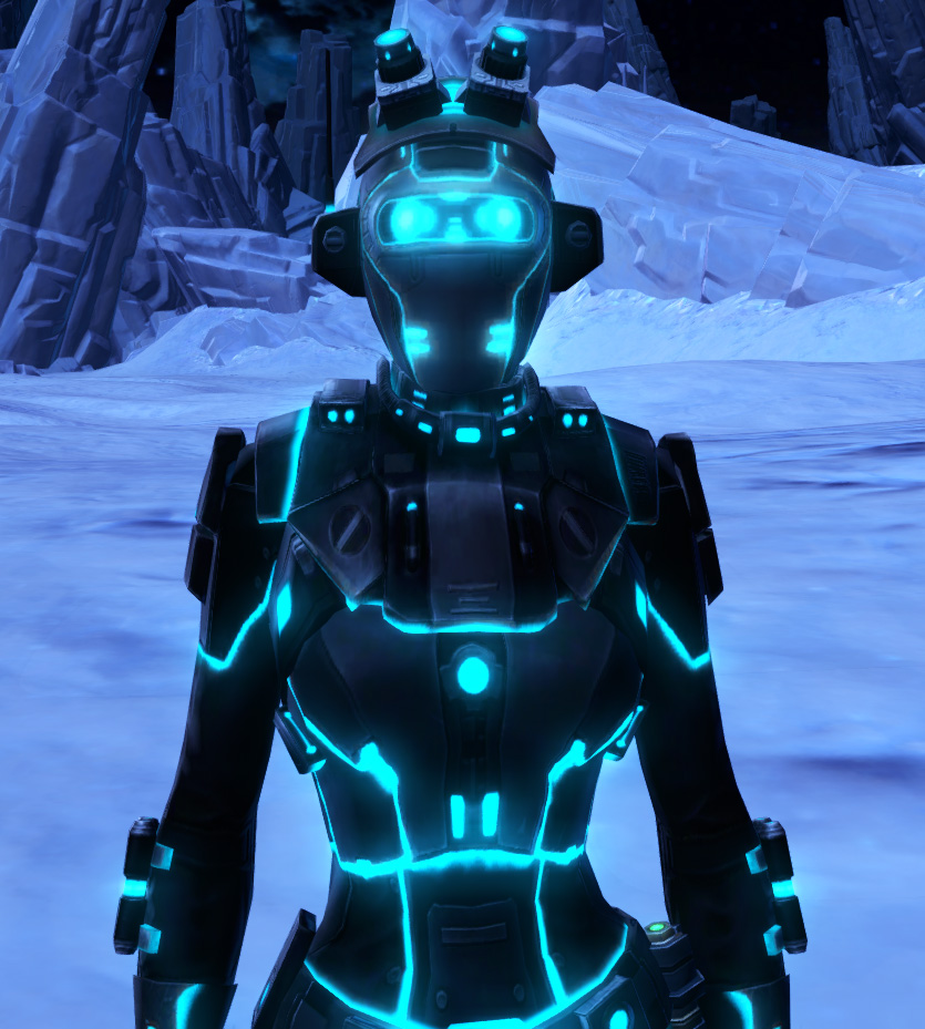 Blue Scalene Armor Set from Star Wars: The Old Republic.