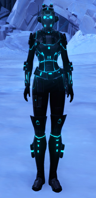 Blue Scalene Armor Set Outfit from Star Wars: The Old Republic.