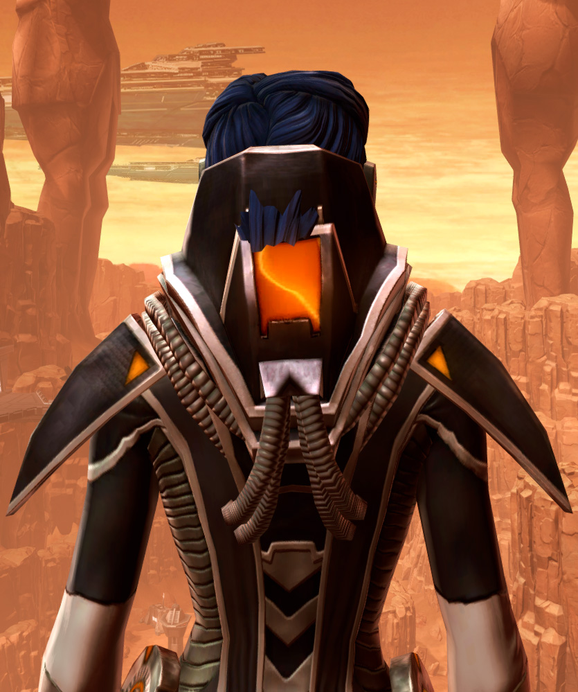 Charged Interrogator Armor Set detailed back view from Star Wars: The Old Republic.