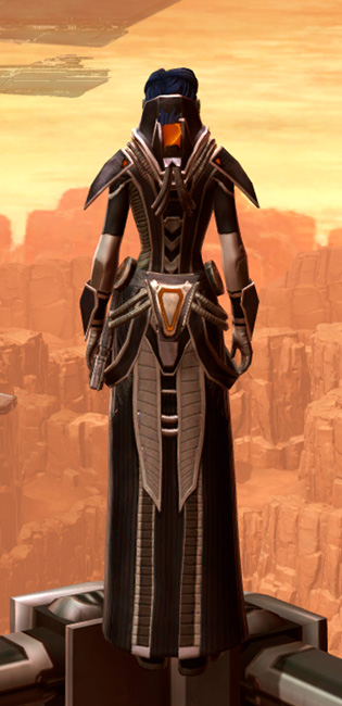 Charged Interrogator Armor Set player-view from Star Wars: The Old Republic.