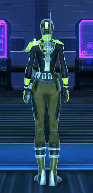 Ciridium Onslaught Armor Set player-view from Star Wars: The Old Republic.