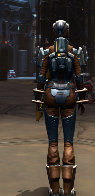Citadel Med-tech Armor Set player-view from Star Wars: The Old Republic.