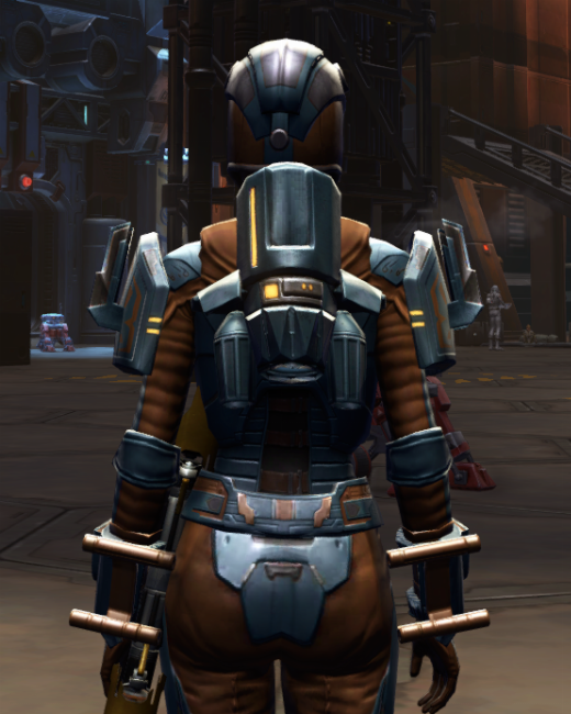 Citadel Med-tech Armor Set Back from Star Wars: The Old Republic.