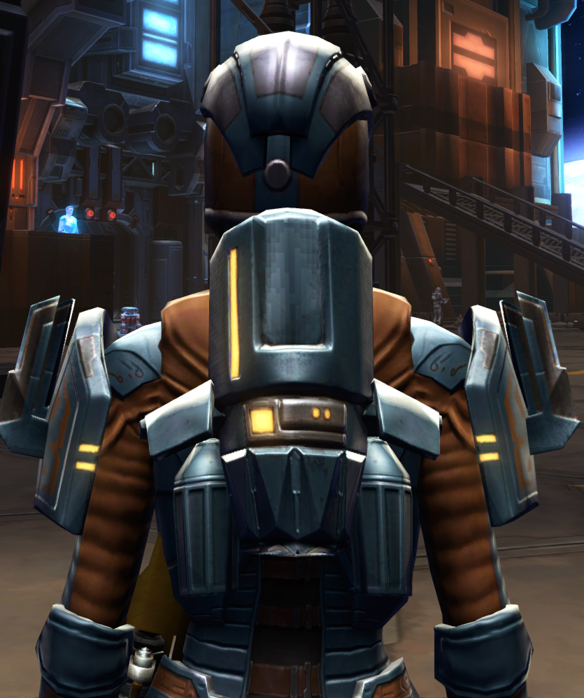 Citadel Med-tech Armor Set detailed back view from Star Wars: The Old Republic.