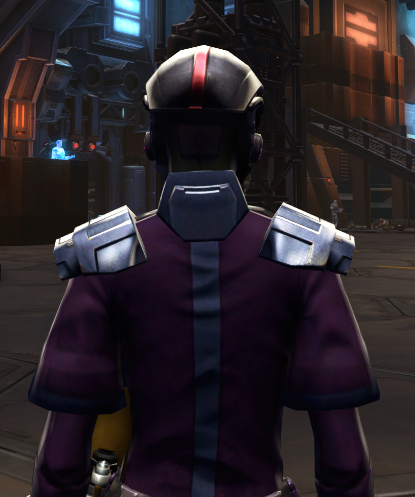 Citadel Pummeler Armor Set detailed back view from Star Wars: The Old Republic.