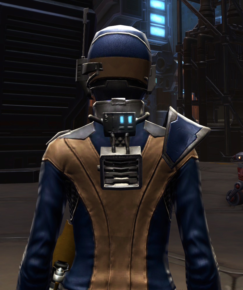 Citadel Targeter Armor Set detailed back view from Star Wars: The Old Republic.