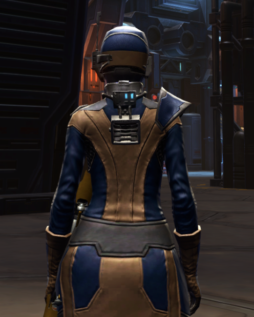 Citadel Targeter Armor Set Back from Star Wars: The Old Republic.