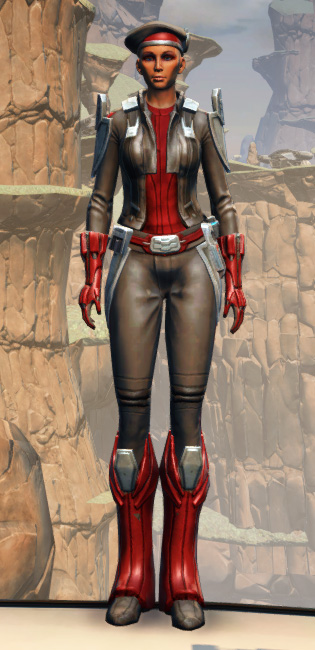 Confiscated Mercenary Armor Set Outfit from Star Wars: The Old Republic.