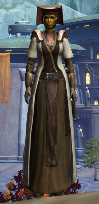 Consular Adept Armor Set Outfit from Star Wars: The Old Republic.