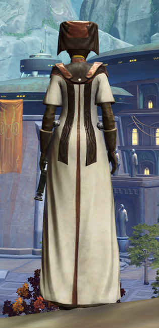 Consular Adept Armor Set player-view from Star Wars: The Old Republic.