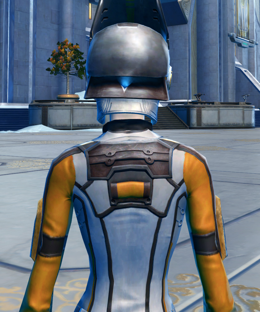 CorSec Armor Set detailed back view from Star Wars: The Old Republic.
