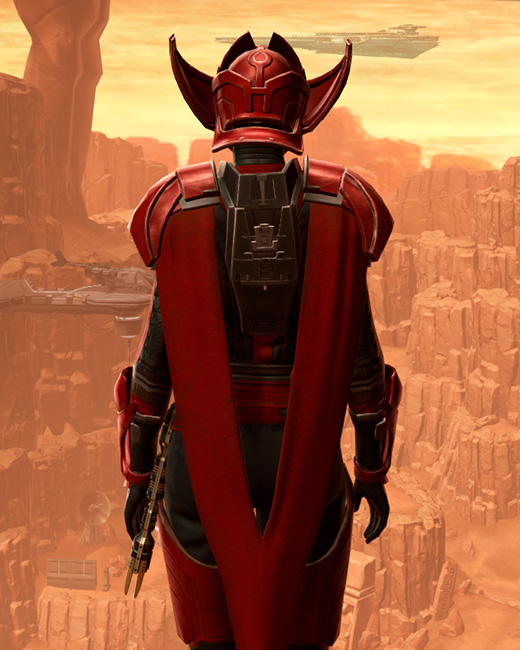 Crimson Talon Armor Set Back from Star Wars: The Old Republic.