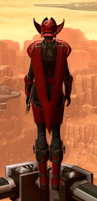 Crimson Talon Armor Set player-view from Star Wars: The Old Republic.