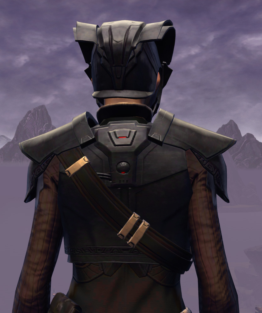 Cutthroat Buccaneer Armor Set detailed back view from Star Wars: The Old Republic.