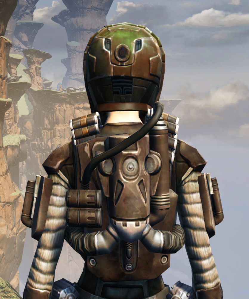 CZ-13K Guerrilla Armor Set detailed back view from Star Wars: The Old Republic.