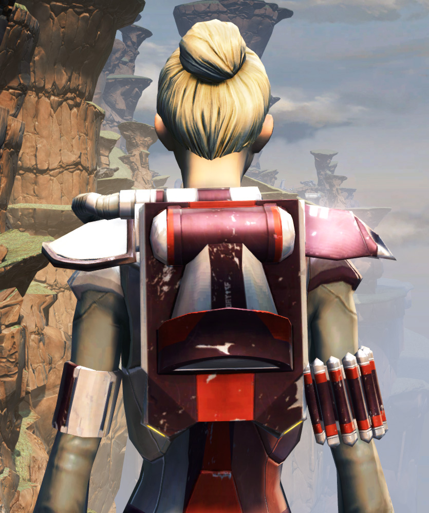 CZ-18X Avalanche Chestplate Armor Set detailed back view from Star Wars: The Old Republic.
