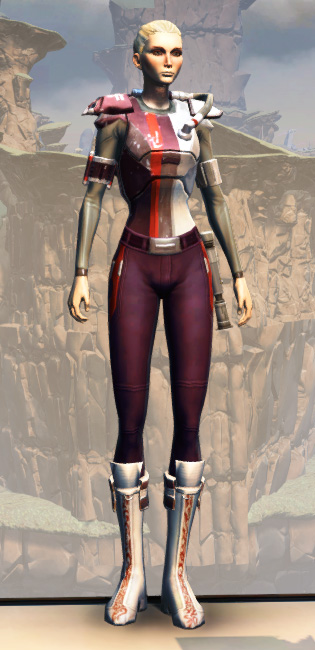 CZ-18X Avalanche Chestplate Armor Set Outfit from Star Wars: The Old Republic.