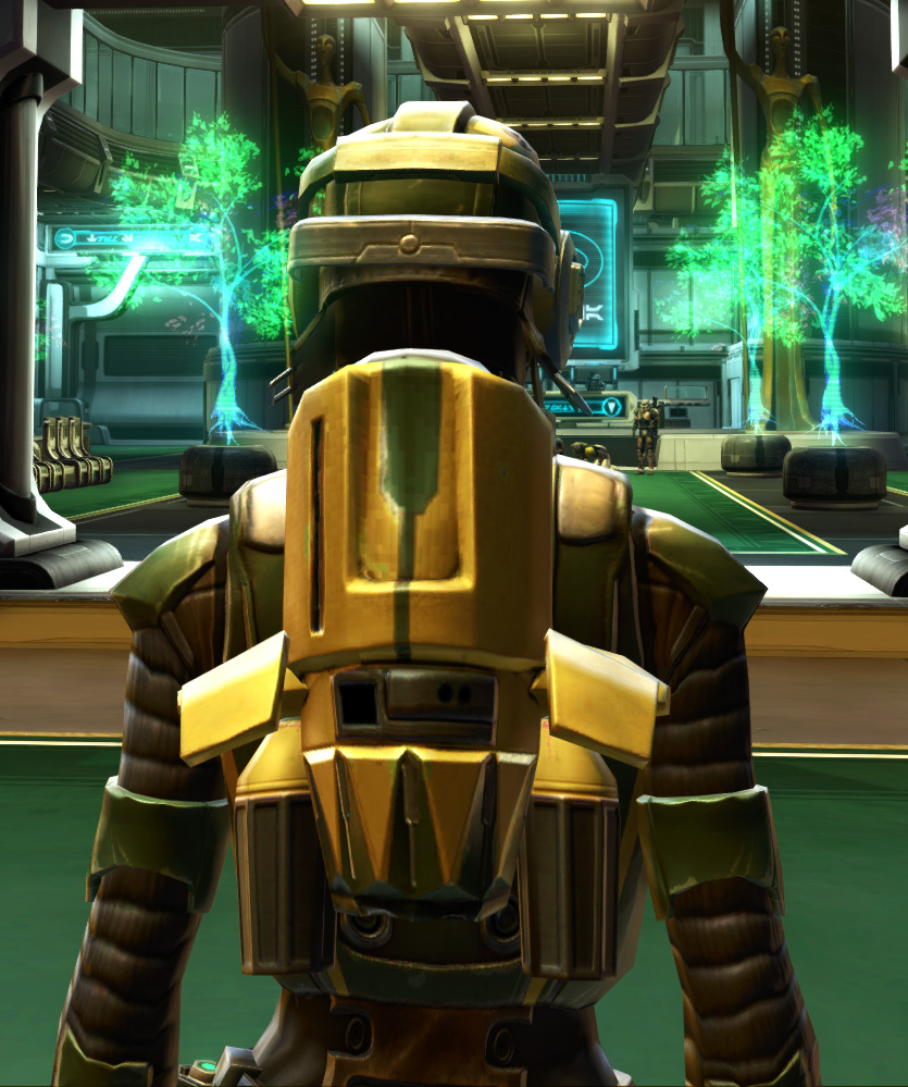 Czerka Security Armor Set detailed back view from Star Wars: The Old Republic.