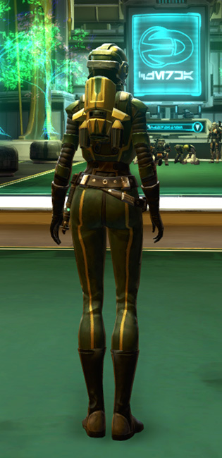 Czerka Security Armor Set player-view from Star Wars: The Old Republic.