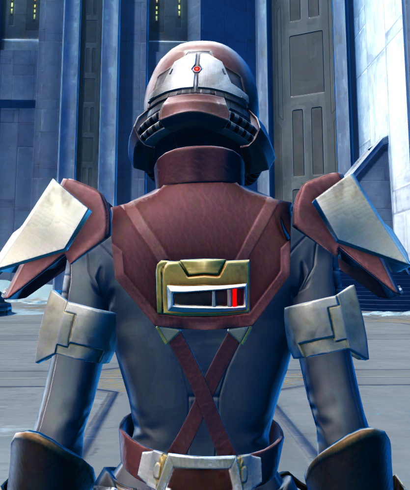 Defiant Asylum MK-16 (Synthweaving) Armor Set detailed back view from Star Wars: The Old Republic.