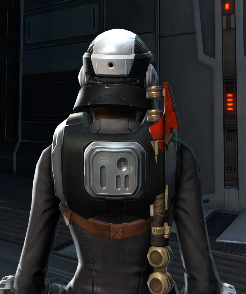 Defiant Onslaught MK-26 (Armormech) (Imperial) Armor Set detailed back view from Star Wars: The Old Republic.