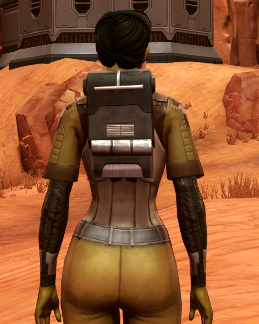 Dense Cuirass (Imperial) Armor Set Back from Star Wars: The Old Republic.