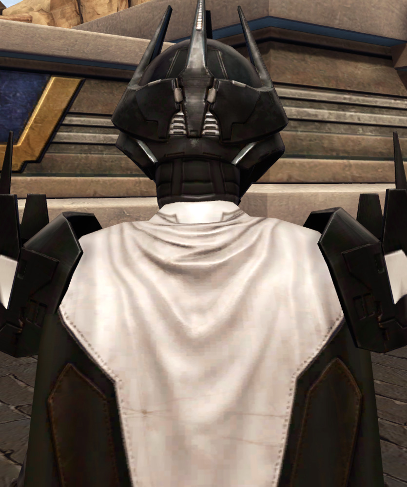Descent of the Fearless Armor Set detailed back view from Star Wars: The Old Republic.
