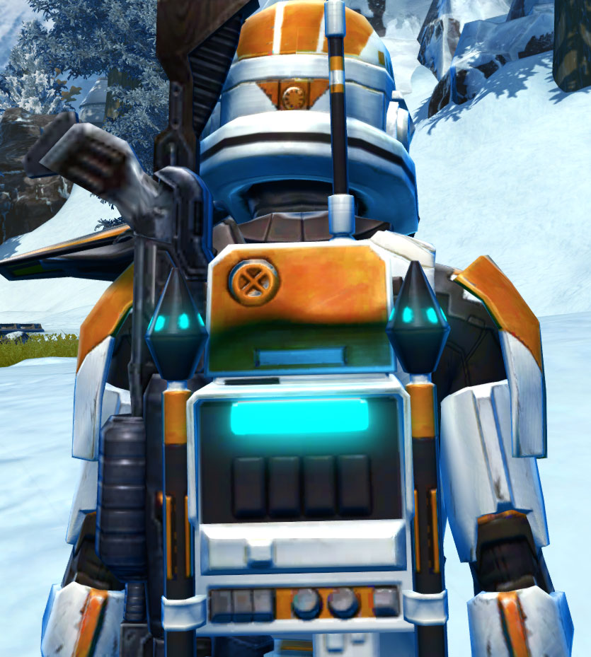 TD-17A Colossus Armor Set detailed back view from Star Wars: The Old Republic.