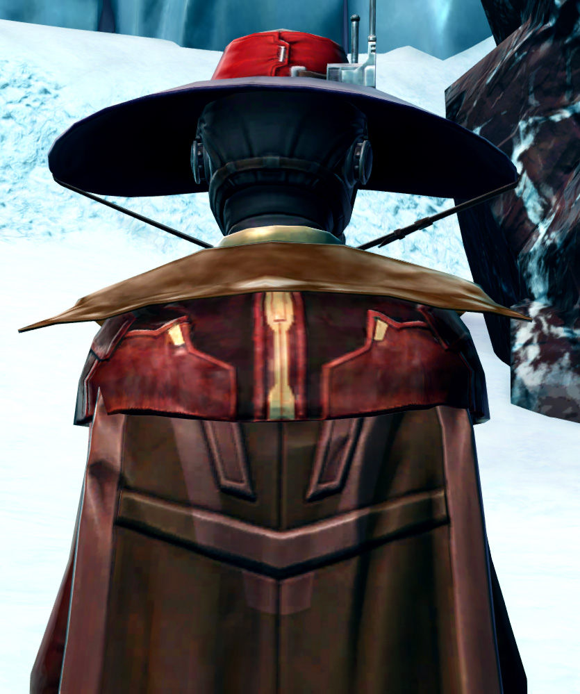 Devious Outlaw Armor Set detailed back view from Star Wars: The Old Republic.