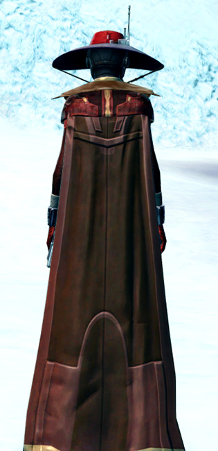 Devious Outlaw Armor Set player-view from Star Wars: The Old Republic.