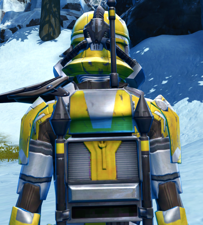 Diatium Onslaught Armor Set detailed back view from Star Wars: The Old Republic.
