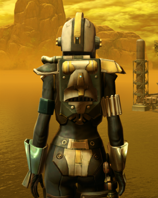Diatium Onslaught Armor Set Back from Star Wars: The Old Republic.