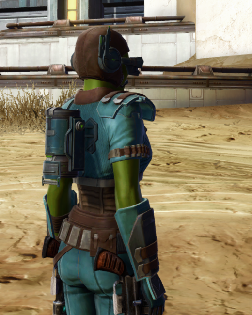 Discharged Infantry Armor Set Back from Star Wars: The Old Republic.