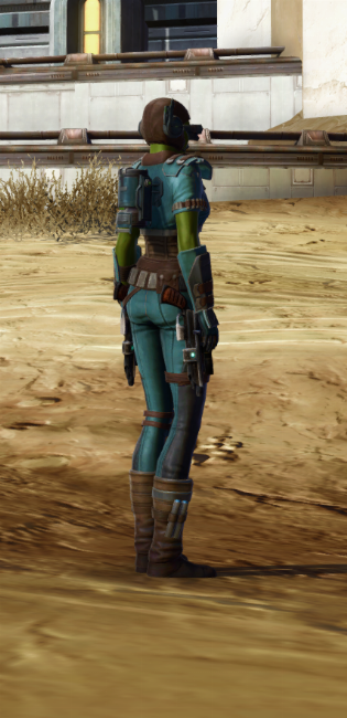 Discharged Infantry Armor Set player-view from Star Wars: The Old Republic.
