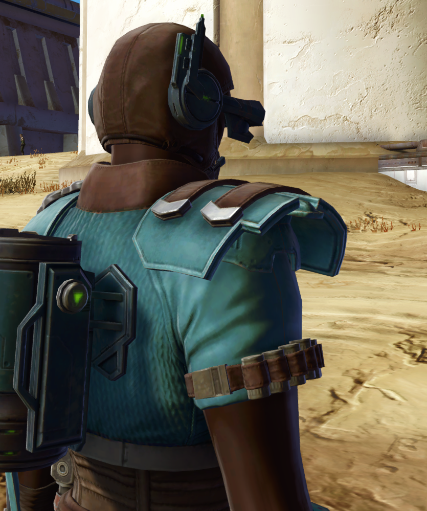 Discharged Infantry Armor Set detailed back view from Star Wars: The Old Republic.